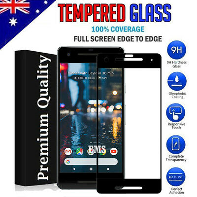 Full Coverage Tempered Glass Film Screen Protector for Google Pixel 2 & 2 XL 2XL