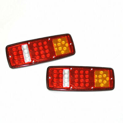 Led Rear Tail Lights For Transporter Lorry Truck Trailer Chassis Tipper 12V