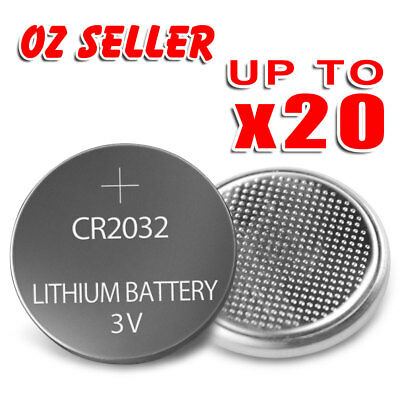 UP TO 20 pcs CR2032 3V LITHIUM CELL Button BATTERY 2032 Batteries Car Key Toy OZ
