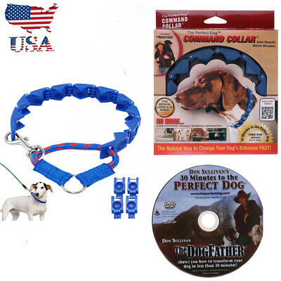 Don Sullivan Perfect Dog Command Collar Adjustable M/L/XL Training Pet Obedience