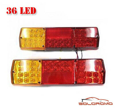 36 Led Rear Tail Lights Truck Lorry Trailer Tipper Caravan Chassis 12V Set