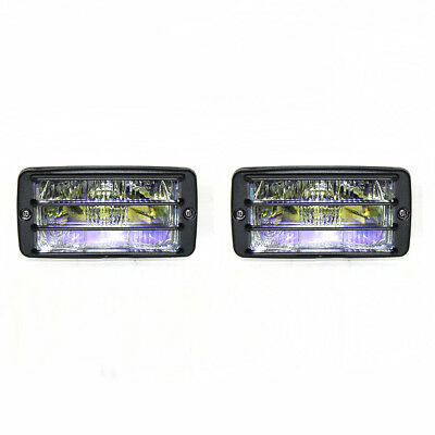 Set Of 2 Universal Car 4x4 Offroad Grille Fog Spot Lights Rainbow Yellow