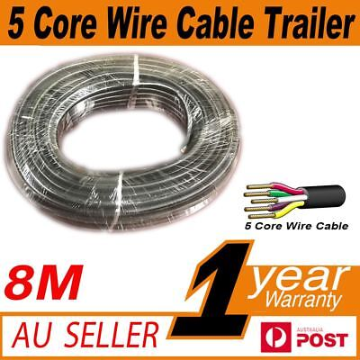 8M x 5 Core Wire Cable Trailer Cable Automotive Boat Caravan Truck Coil V90 PVC