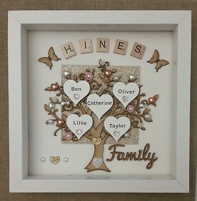 Funky Large Family Tree Picture Frame Crest - Custom Picture Frame ...