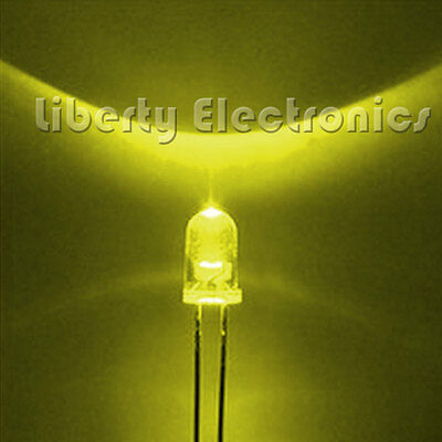 Lot of 10 (Ten) HIGH QUALITY ROUND LED YELLOW COLOR 10mm