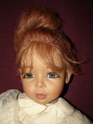"Beautiful 1993 Joke Grobben 26"" ""CLAUDIA"" doll, red hair by GOTZ, silk clothes?"