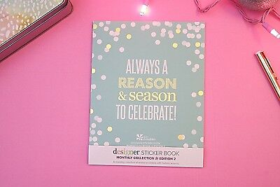 Erin Condren Colorful Metallic Sticker Book Monthly Collection new