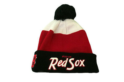 Boston Red Sox Cuff Scripter 2 New Era MLB Baseball Beanie Hat / Winter Hat