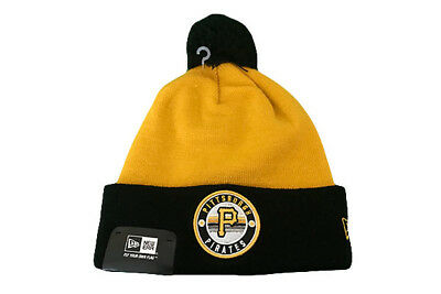 Pittsburgh Pirates New Era MLB Baseball Beanie Hat / Winter Hat Black/Yellow