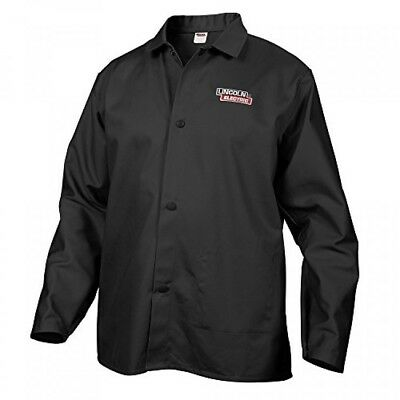 Lincoln Electric Black XLarge FlameResistant Cloth Welding Jacket