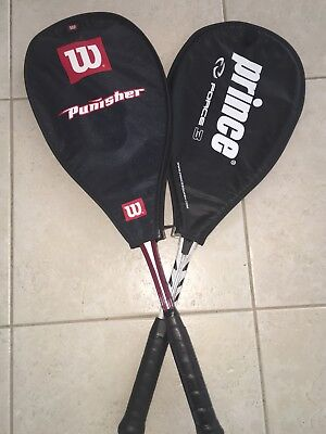 2 Squash Rackets - Wilson Punisher + Prince Force 3