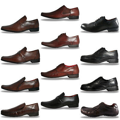Red Tape REAL LEATHER Formal Casual Lace Up Slip on Shoes - From Only £ 9.99
