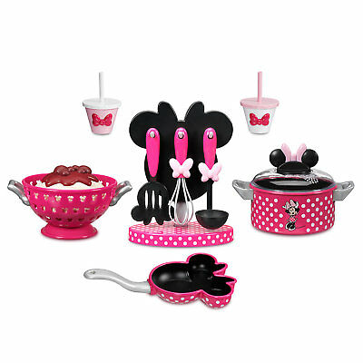 Official Minnie Mouse Toy Cooking 14psc Set Christmas Gift Girls Kids Cooking