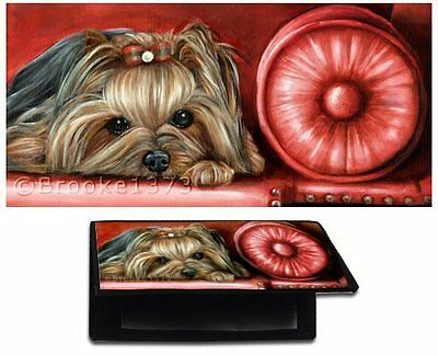 YORKIE CHECKBOOK cover YORKSHIRE TERRIER wallet dog art of original painting