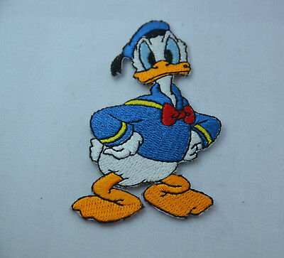 DONALD DUCK WALT DISNEY 8cm  Embroidered Iron Sew On Cloth Patch Badge Applique