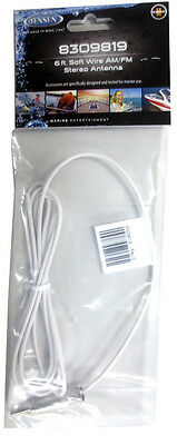 New Jensen Marine 6 ft Soft Dipole Wire Antenna for AM/FM Stereo 8309819