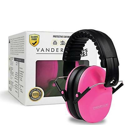 Kids Ear Defenders Pink Earmuffs For Toddlers Children Babies Hearing Protection