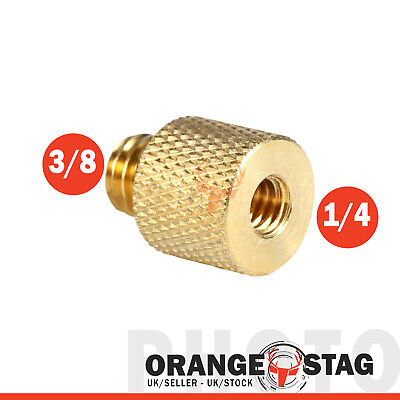 "1/4"" inch Female to 3/8"" Male Brass Screw Camera Tripod Thread Adapter"