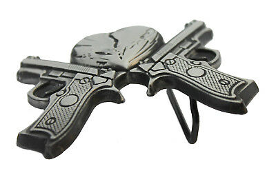 For Him Her Vintage Style Pirate Skull Head Pistols Metal Belt Buckle