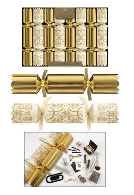 Tom Smith Christmas Crackers 8 x 12.5 Gold & Cream Premium Crackers