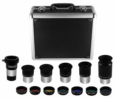 """Astromania 1.25"""" Eyepiece and Filter Kit Deluxe Version - Truly an instant kit,"""