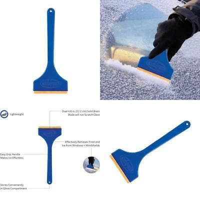 3 Car Ice Scraper Windshield Snow Frost Removal Brush Window Cleaner Brass Blade