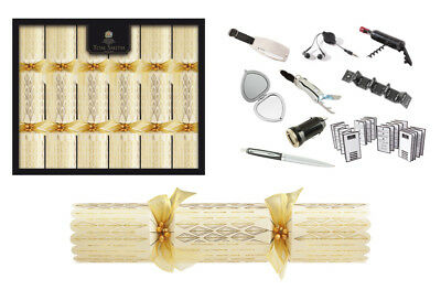Tom Smith Christmas Crackers 6 x 14 Gold & Cream Deluxe Crackers