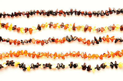 Natural Baltic Amber Baby Necklace Knotted Beads Jewelry Choose color and size