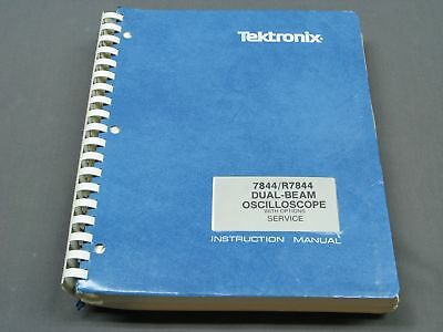 Tektronix 7844 Op / Service Manual with schematics, p/n 070-1676-02 VGC