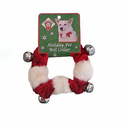 Outward Hound Dog Bell Collar for Dogs, Red – Large Dog Christmas Gift