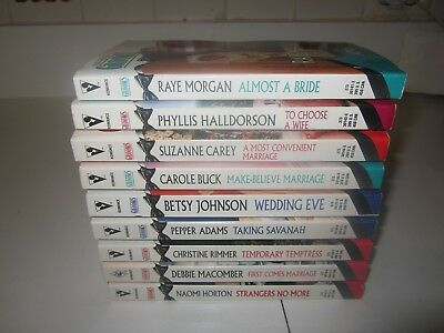 "Lot of 9 Silhouette ""Here Come the Grooms"" Paperback Romance Books"