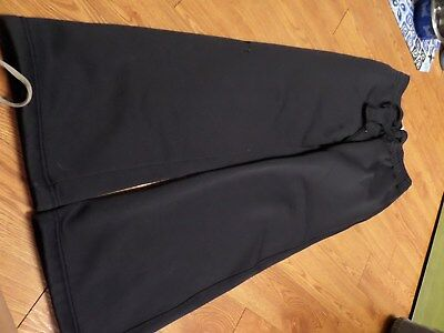 euc ladies under armour black pants-size xs-semi fitted-coldgear storm