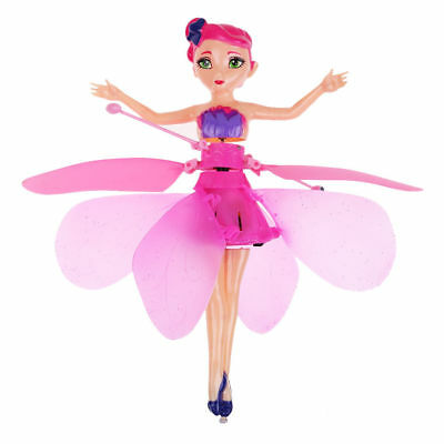 Flying Pink Fairy Pixie Doll Infrared Induction Control Princess Toy Xmas Gift