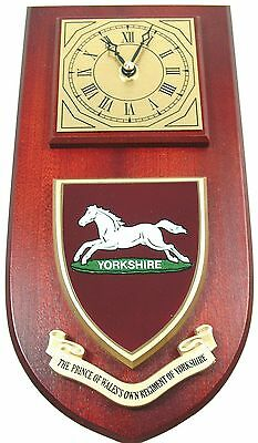 Pwo Prince Of Wales Own Regiment Of Yorks Classic Hand Made To Order  Wall Clock