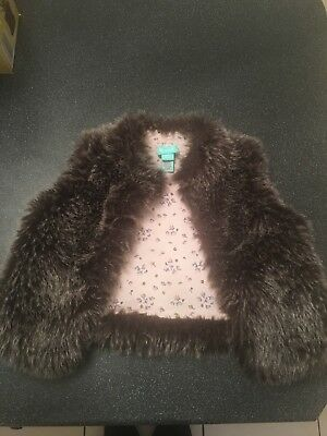 Girls Monsoon Fur Gilet Bodywarmer