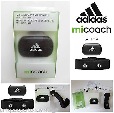 ADIDAS miCoach Heart Rate Monitor Tracker Ant+ Sensor With Strap Sports Gym Run
