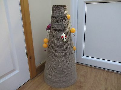 The Cat cone Scratcher with playballs/bells