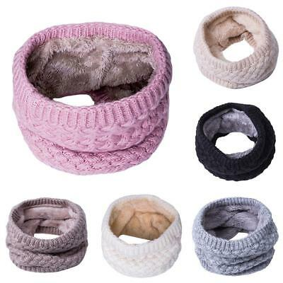 Mens Ladies Snood Chunky Knit Knitted Winter Wool Neck Circle Warmer Ski Scarf Z