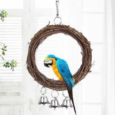 Parrot Swing Bird Parakeet Pet Cockatiel Cage Toys Hanging Budgie Toy Chew Climb