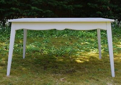 Pretty painted French vintage kitchen table in pale grey