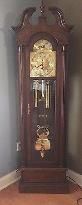 Gorgeous Trend Wood Grandfather Clock by SIigh 2 Rod #0881-1-ZZ