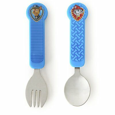 Munchkin PAW Patrol Toddler Fork and Spoon Utensil Set, Blue