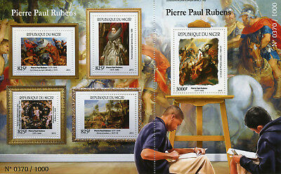 Niger 2015 MNH Peter Paul Rubens 4v M/S + 1v S/S Art Paintings Stamps
