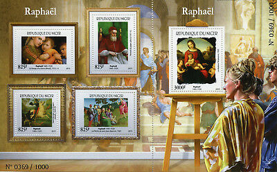 Niger 2015 MNH Raphael 4v M/S + 1v S/S Art Paintings Stamps