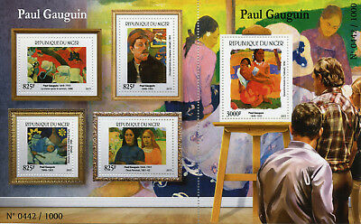 Niger 2015 MNH Paul Gauguin 4v M/S + 1v S/S Art Paintings Stamps