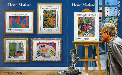 Niger 2015 MNH Henri Matisse 4v M/S + 1v S/S Art Paintings Stamps