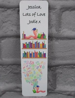 PERSONALISED BOOKMARK Teacher Leaving Gift School Thank you  Metal Name Message