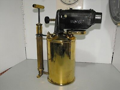 Antique Original Max Sievert Type 577 Large Blow Torch Made In Sweden Condition+