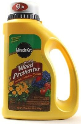 Miracle Gro Garden Weed Preventer Stops Weeds for 3 Months 9lb Jug