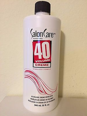 Salon Care 40 Volume Creme Developer 32 oz NEW!